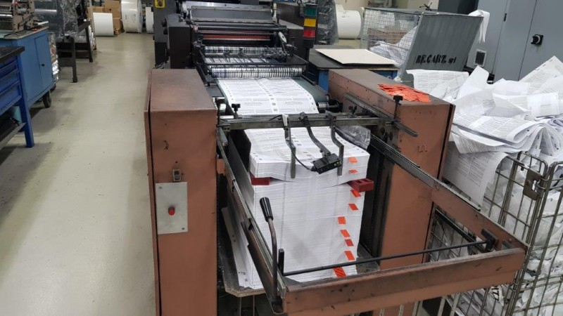 MG Macchine Grafiche - Web offset printing press Didde VIP two colours